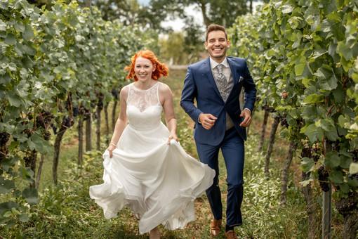 Hochzeitsfotos in den Weinbergen
