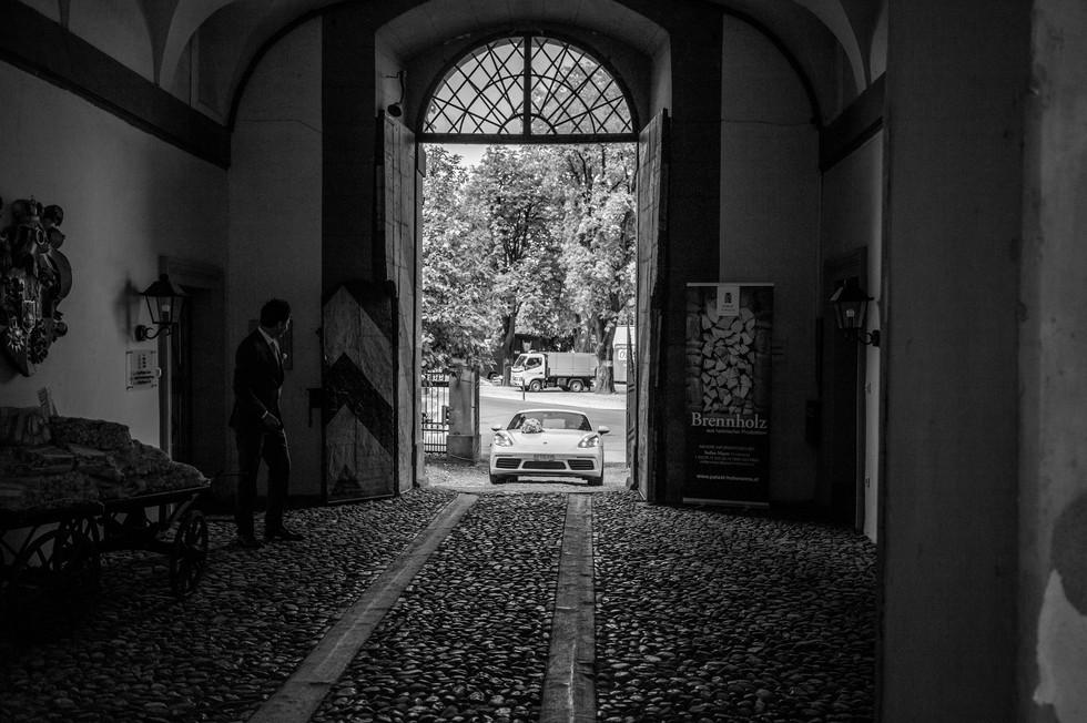 Hochzeitsauto, Palast Hohenems, Vorarlberg