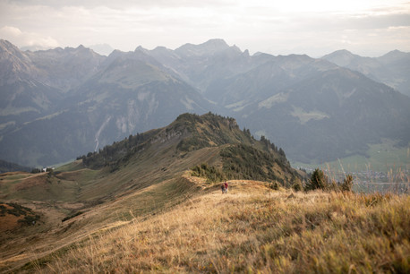 romantic couple photos in the nature in the austrian mountains