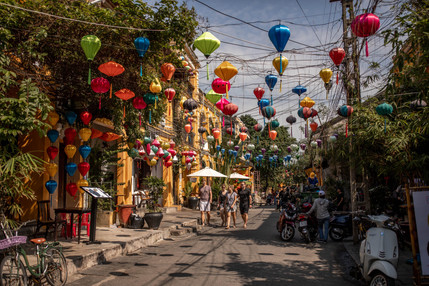 Motley Lanterns in the Streets from Vietnam