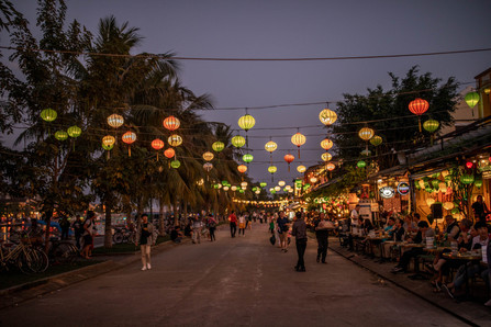 Illumined Lanterns at the old Town from Hoi An in Vietnam