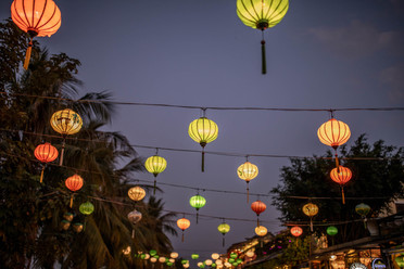 Illumined Lanterns in the old Town from Hoi An in Vietnam
