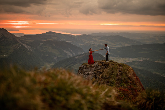 epic engagement photos in the mountains
