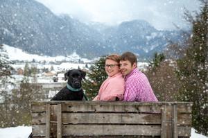 Verlobungsshooting im Schnee