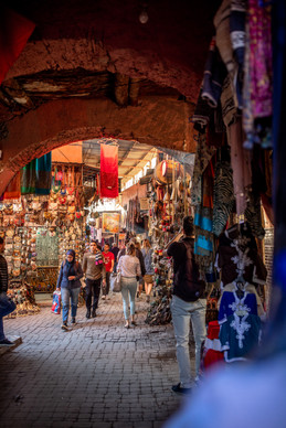 market stands in the medina of Marrakech | Travel and Landscape Photography in Morocco Africa || Bohoray - Adventure Elopement and Wedding Photographer - Victoria Ruef || www.bohoray.com