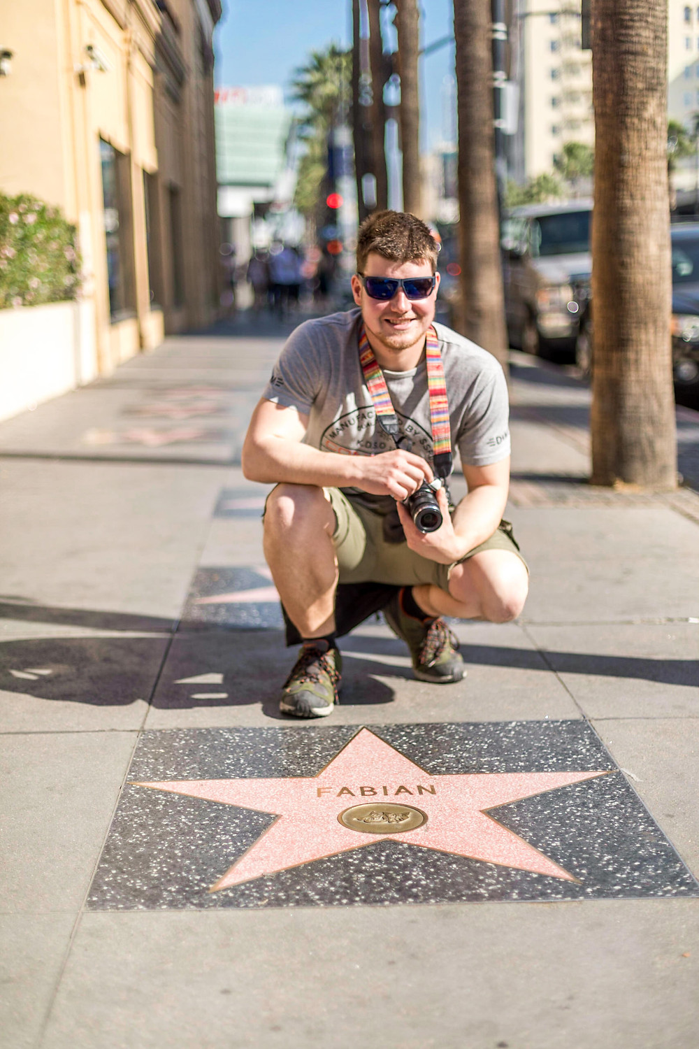 Fabian at the Walk of Fame in Los Angeles