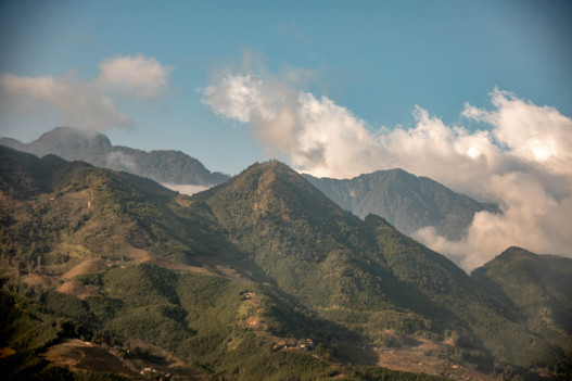 Sapa in the north of Vietnam is surrounded by impressive mountains