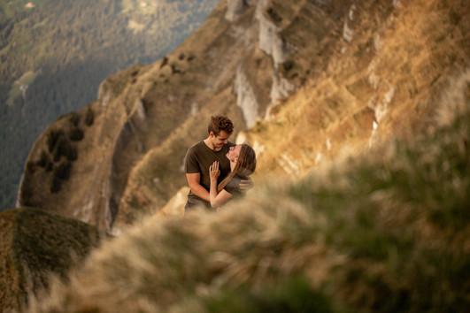 epic mountain location for romantic couple photos