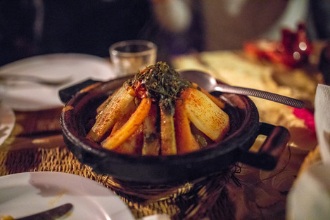 Tajine for dinner | Travel and Landscape Photography in Morocco Africa || Bohoray - Adventure Elopement and Wedding Photographer - Victoria Ruef || www.bohoray.com
