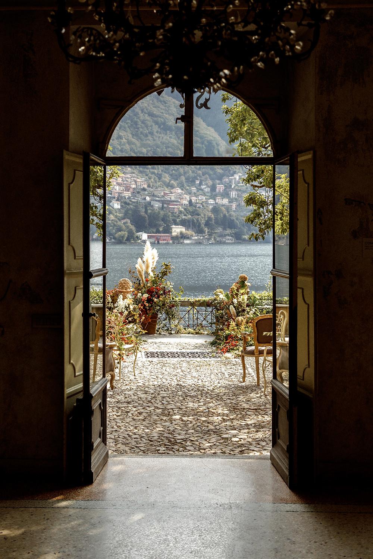 traumhafter Ausblick über die Hochzeitslocation am Comosee in Italien