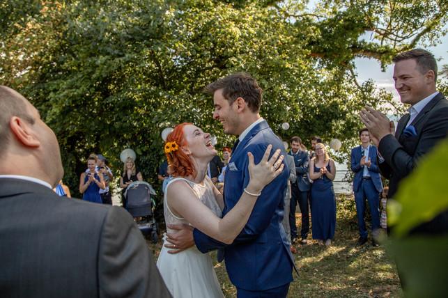 Brautpaarshooting in den Weinbergen am Bodensee
