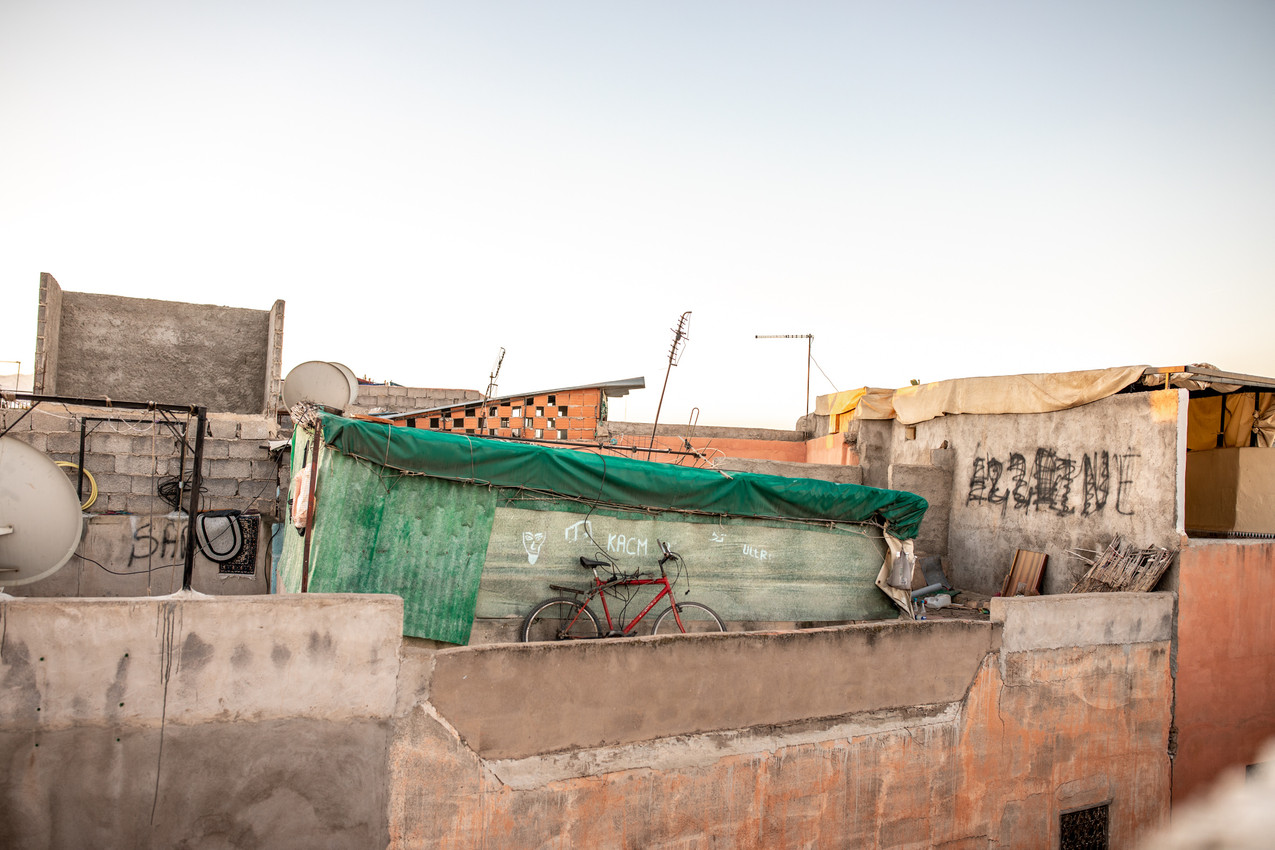 Rooftop Terrace at Riad El Sahaya in the Medina of Marrakech || Travel and Landscape Photography in Morocco Africa || Bohoray - Adventure Elopement and Wedding Photographer - Victoria Ruef || www.bohoray.com
