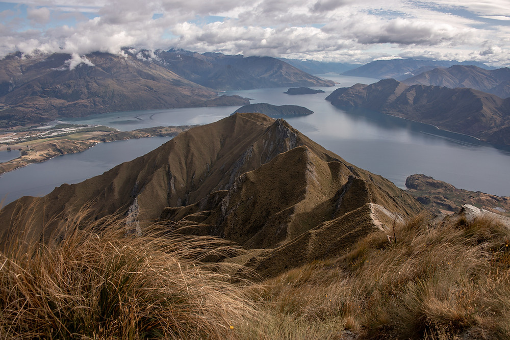 Stunning view from Roys Peak in New Zealand