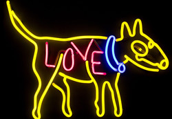 Lostdog Neon Sculpture