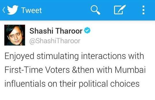 Tweet by Dr. Tharoor