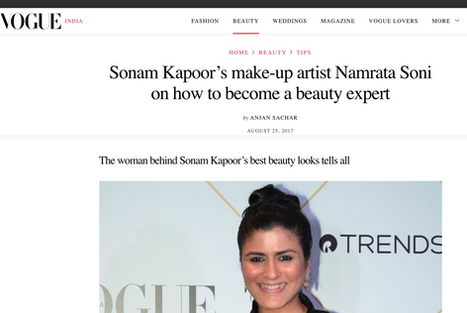 Sonam Kapoor's make-up artist Namrata Soni on how to become a beauty expert