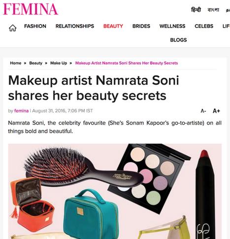 Makeup artist Namrata Soni Shares her beauty secrets.