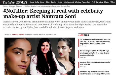 #nofilter keeping it real with celebrity make-up artist Namrata Soni