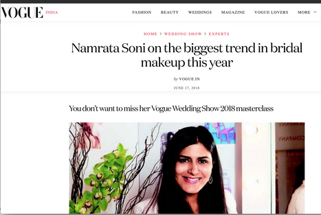 Namrata Soni on the biggest trend in bridal makeup this year