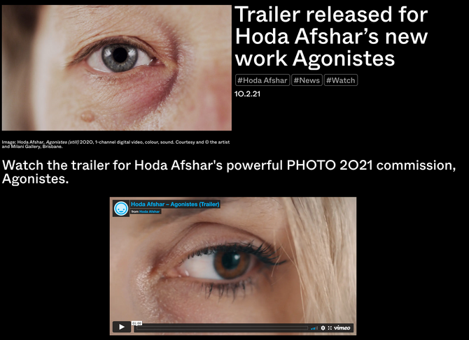 PHOTO 2021 Festival released the trailer for Agonistes