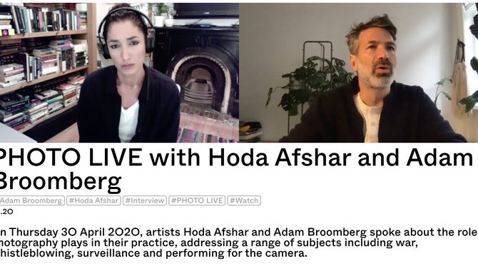 PHOTO LIVE with Hoda Afshar and Adam Broomberg