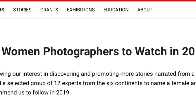 PHMuseum: 12 Women Photographers to Watch in 2019