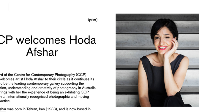 Joined The Board of the Centre for Contemporary Photography (CCP)