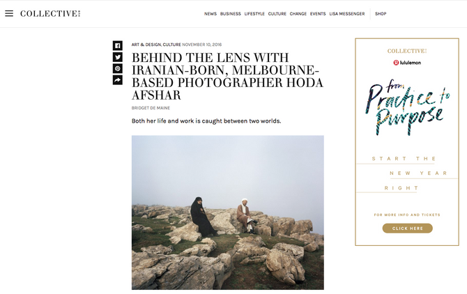 Featured on Collective Hub, online journal of ART & DESIGN, CULTURE