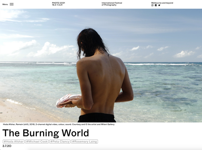 The Burning World, Bendigo Art Gallery, 8 August – 8 November 2020