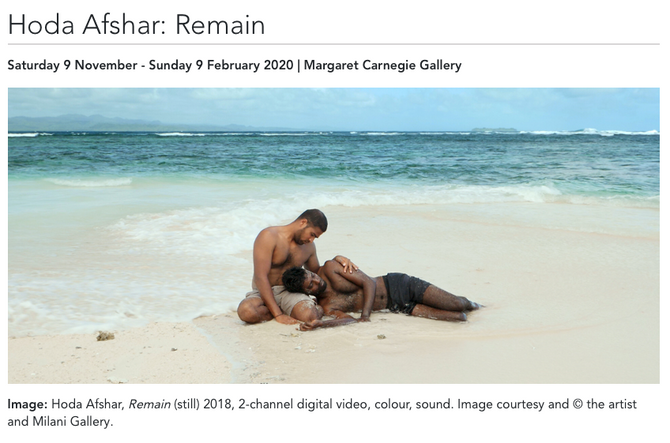 'Remain' opens at Wagga Wagga Gallery in NSW from Saturday 9 November - Sunday 9 February 20