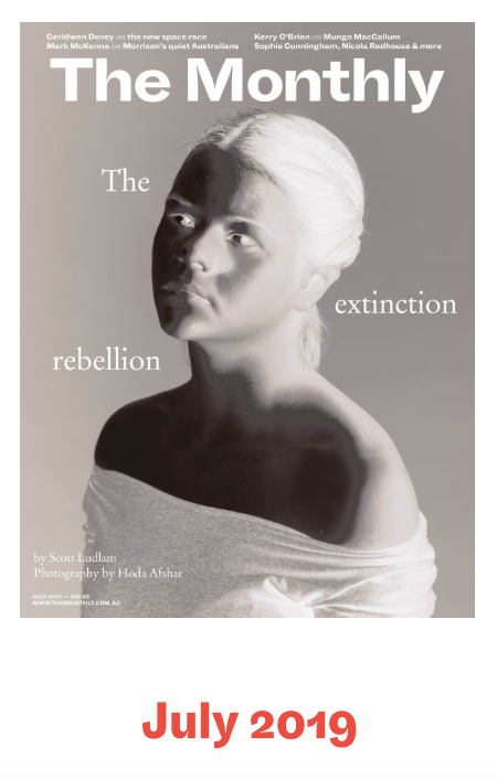 Commissioned photoshoot for the cover of The Monthly Magazine_The Extinction Rebellion Issue_ July 2