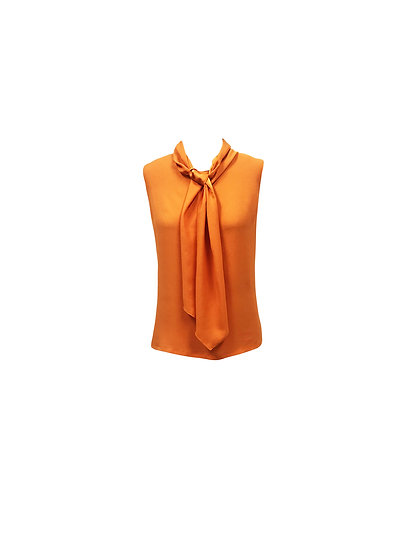 Blusa crepe de shine com faixa