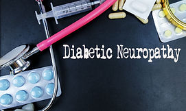 Diabetic Neuropathy word, medical term w