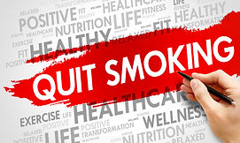 Quit Smoking word cloud background, heal