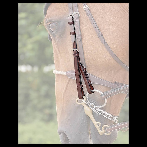 Dy'on New English Double Bridle Cheek Pieces