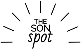 The Son Spot Logo (Just Black, no outlin