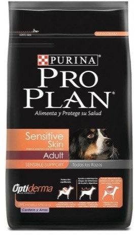 Proplan canino adulto sensitive skin cordero todas las razas