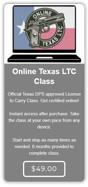 Online LTC Class Only