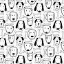 Hand Drawn Cute Dog And Bone Pattern_.jp