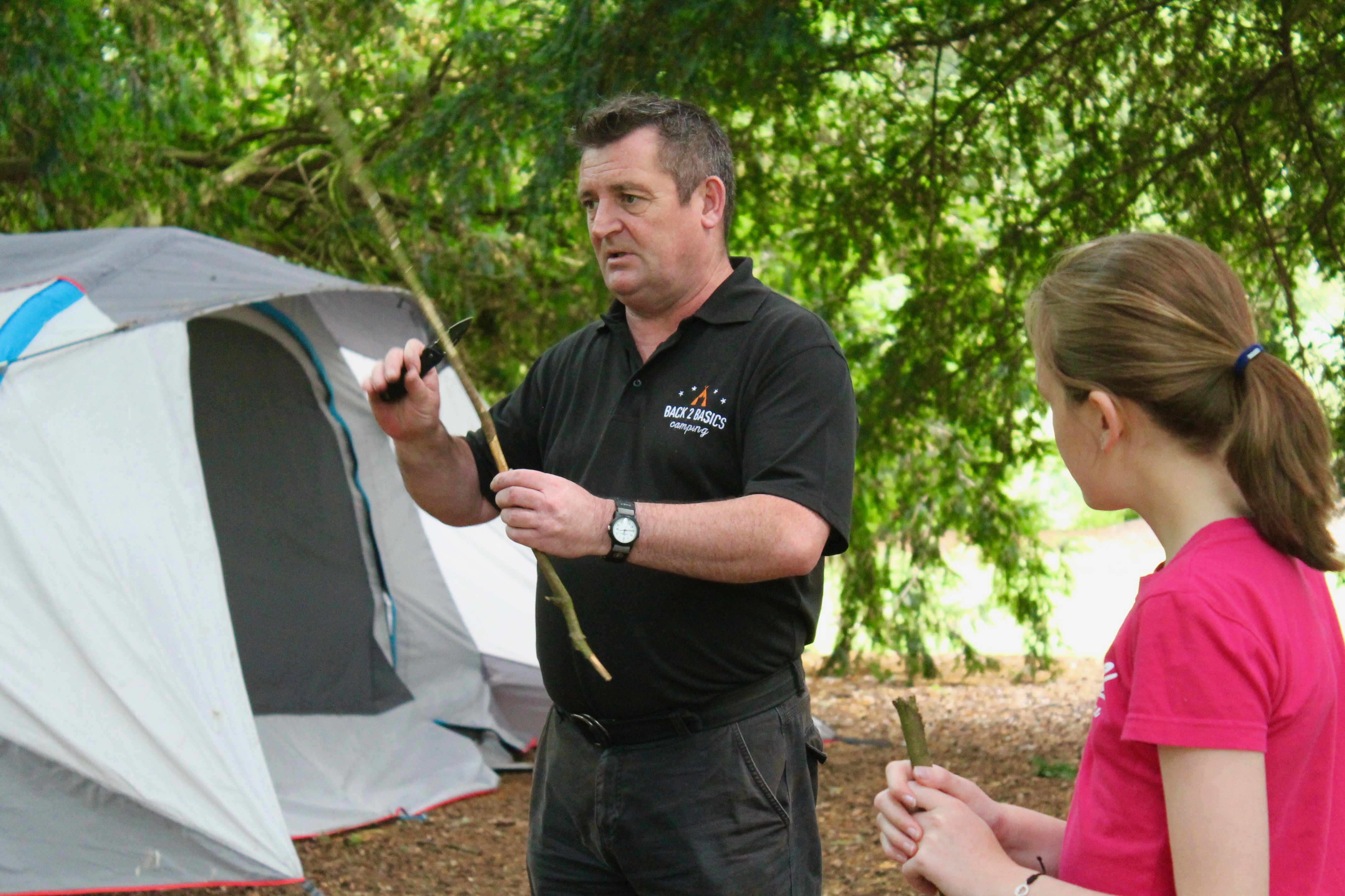 Learn how to use a knife safely at our Bush Craft Course