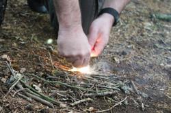 Firelighting in action