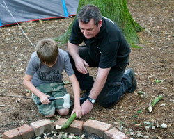 Learning axe safety whit our ranger