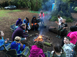 Free time around the campfire