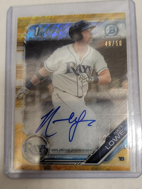 Nate Lowe 1st BC Gold Shimmer Auto /50