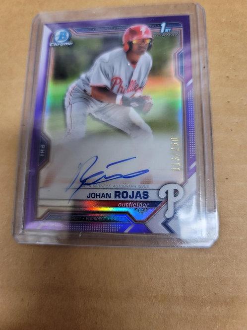 Johan Rojas 1st BC Purple Auto /250