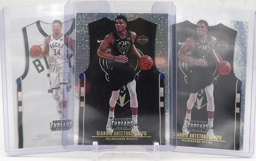 2018-19 Panini Threads Giannis Antetokounmpo Statement and Icon Jersey Lot