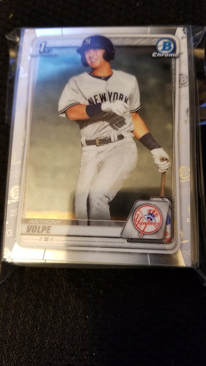 2020 Bowman Chrome 1st Bowman Anthony Volpe Lot of 25
