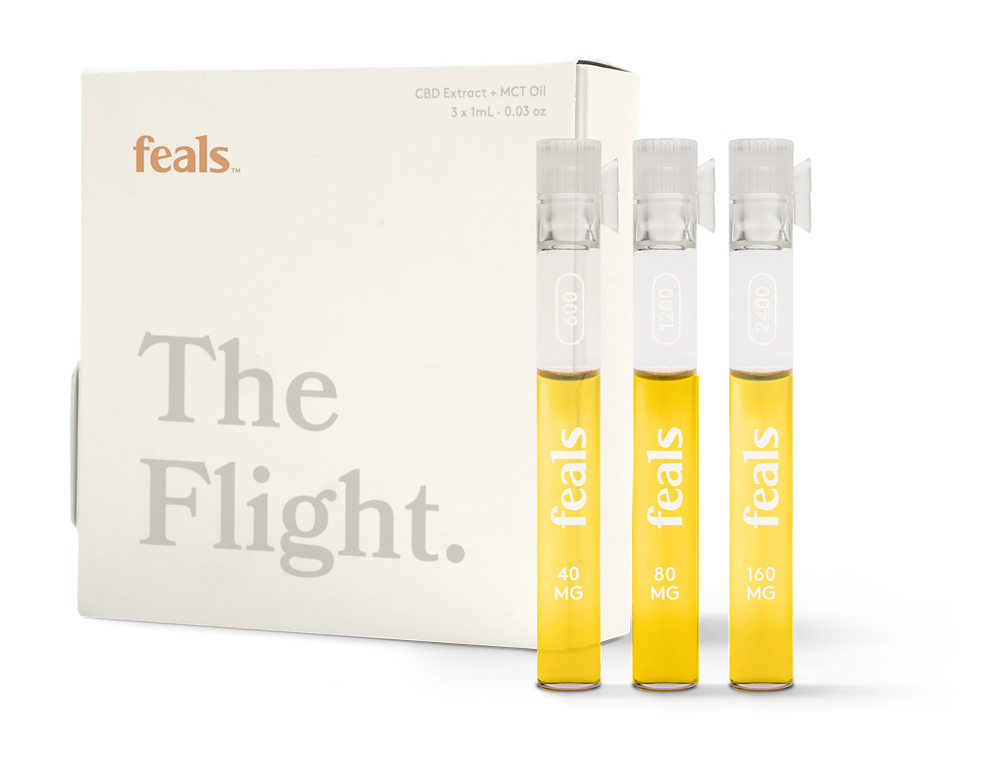 Feals CBD Oil Flight to try 3 different strengths.