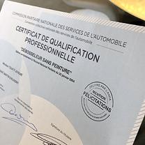 Certificat de Qualification Professionnelle Debosseleur sans peinture