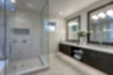 Spacious Bathroom In Gray Tones With Heated Floors.jpg